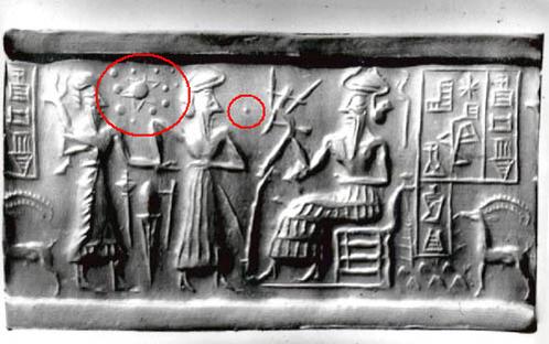 Некоторые исследователи находят изображения Нибиру (или Тюхе) на древних табличкам, авторство которых приписывают шумерам и египтянам