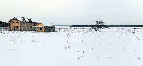 Дома растут на том месте, где в 1812 году располагался правый фланг русской армии.