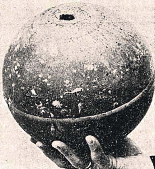 Один из загадочных шаров оказался частью советской ракеты