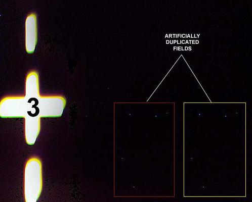 Сравните звезды в прямоугольниках - они сдублированы
