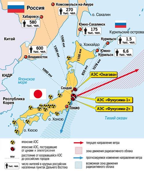 Карта района бедствия