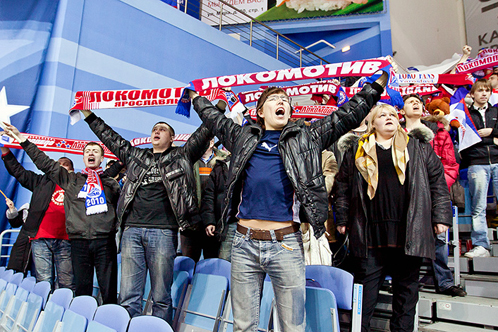 Болельщики из Ярославля до самого конца поддерживали свою команду.