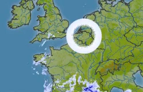 Кольцо облаков зафиксировали погодные радары