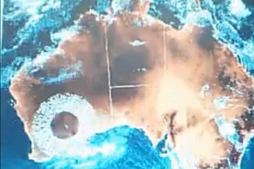 Вскоре НЛО появился над Австралией