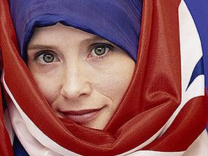 Британский флаг использовали как хиджаб