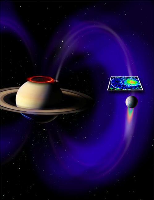 Так в НАСА проиллюстрировали выработку тока системой Энцелад-Сатурн