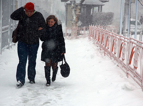 Снег с дождем будет идти до утра субботы.