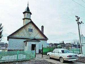 Мечеть в поселке Архангельский в Башкортостане, неподалеку от которого была уничтожена банда ваххабитов.