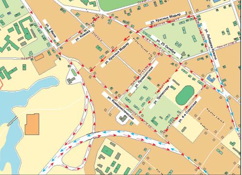 Даже новые светофоры и знаки вряд спасут от нарушений правил.  Схема движения по новейшему мосту через Ангару...