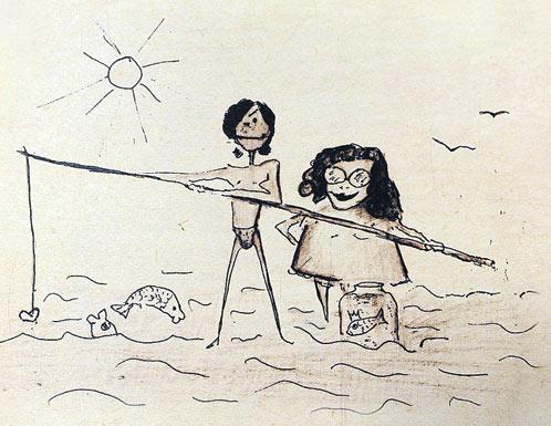 Помимо сказки, Андрей Данилко нарисовал забавный шарж на Максима и Аллу.