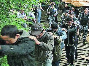 Полиция вывела из городка 40 человек.