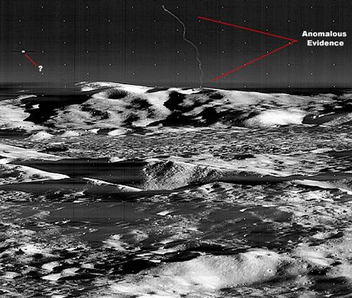 Два НЛО на Луне. Снимок Lunar Orbiter 3 с высоты порядка 60 километров