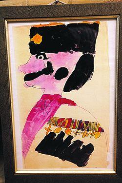 Рисунок царевича Алексея «Казак» (хранится в Госархиве РФ).