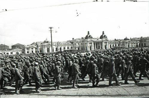 Финиш прогона - вокзал