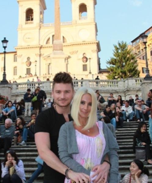 Лазарев и Кудрявцева отдохнуле в Риме.
