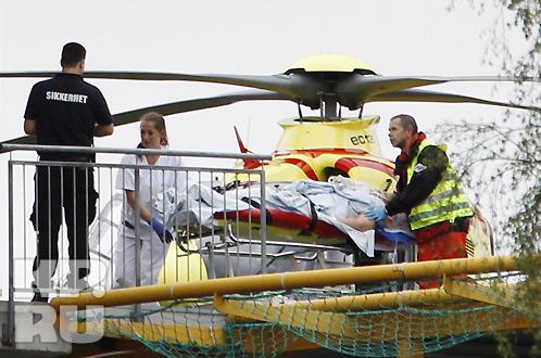 Тела погибших вывозили вертолетами