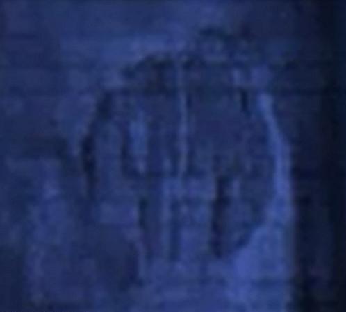 Еще изображение с сонара: виден узор на поверхности объекта