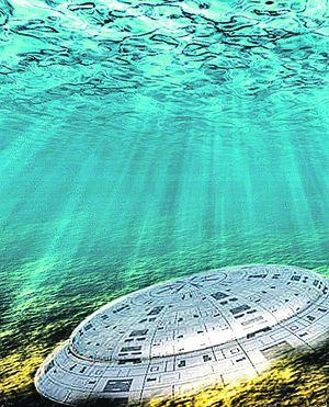 НЛО проявился на изображении с сонаров - приборов для сканирования морского дна - в виде круглого объекта.
