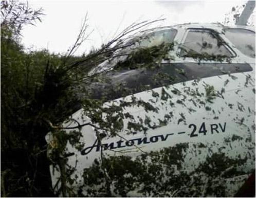 Ан-24 совершил жесткую посадку в Благовещенске.