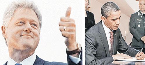 Билл Клинтон, Барак Обама