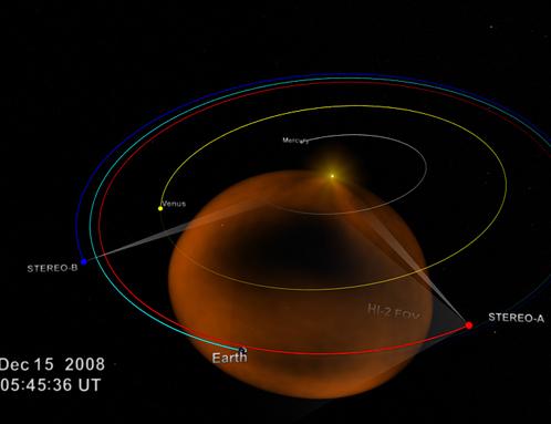 Плазменный пузырь, выпущенный Солнцем, огромен