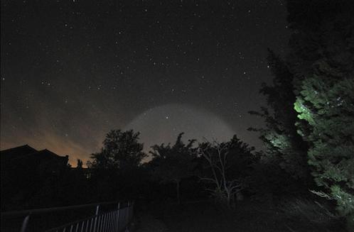 НЛО был виден из разных мест