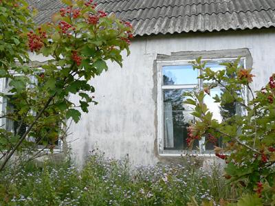 Заброшенный дом родителей в деревне Липовка, здесь были найдены тела двух молодых людей.