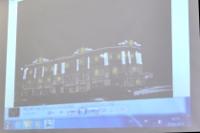 Кадр из презентации: праздничная подсветка здания