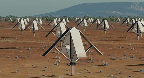 Поле с антеннами для приема низкочасттных радиосигналов