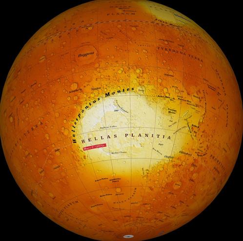 Равнина Эллады - здесь трудиллись марсианские каторжане
