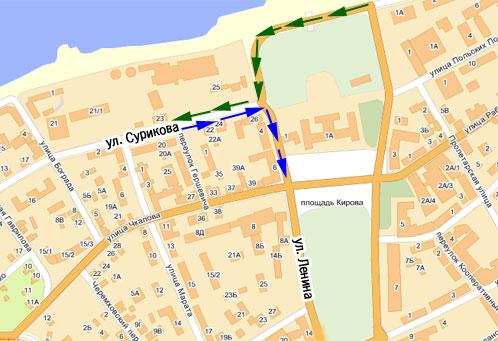 Изменилась схема движения транспорта в центре Иркутска.
