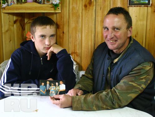 Крестник Ростроповича - Мстислав Шутов с отцом.