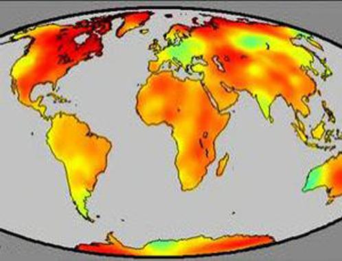 Данные из отчета Мюллера: желтые и красные тона соответствуют приросту температуры