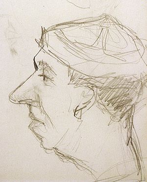 Этот шарж на Юрия Никулина Вицин рисовал на съемках «Кавказской пленницы».