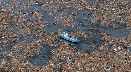СЕйчас на плаву находятся около 20 миллионов тонн японского мусора