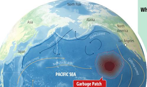 Гигантское мусорное пятно в Тихом океана: часть японского мусора окажется там