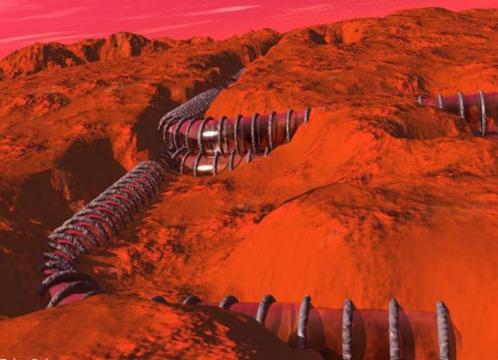 Такими марсианские тоннели увидел художник