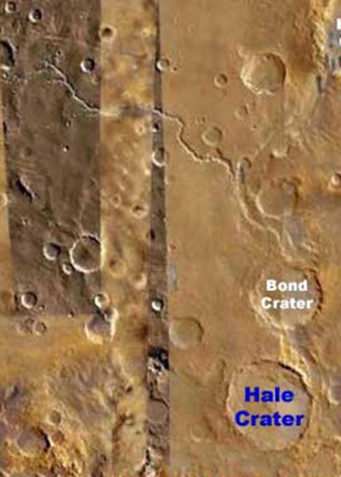 Кратер Гейла, диаметром в 150 километров, вроде бы окружен глиной