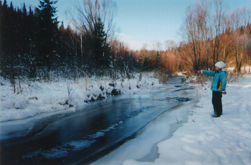 """Речка, которую одним шагом перемхнул """"снежный человек"""""""