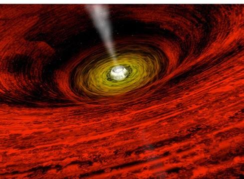 GRO J1655-40: вращающаяся черная дыра.