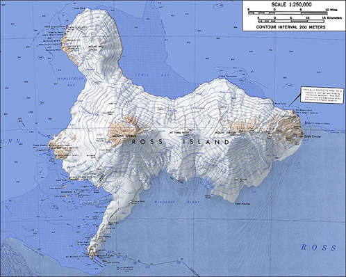 Карта острова Росса