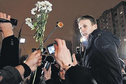 Новый вождь новой оппозиции Алексей Навальный после освобождения из-под административного ареста был встречен своими сторонниками как герой.