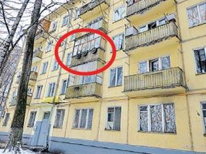 Квартира № 12 (в кружке) находится на самом деле на третьем этаже, а не на четвертом, как было в известном фильме.