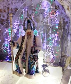 Чисхаан в своей ледяной резиденции.