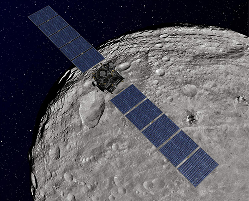 Весту сейчас фотографирует зонд НАСА с высоты примерно 200 километров