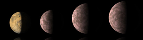 Стали попадаться экзопланеты размером с Марс (он - слева)