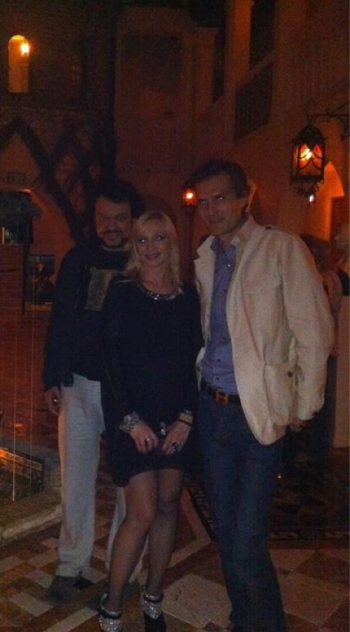 Филипп Киркоров, Кристина Орбакайте с мужем Михаилом Земцовым.