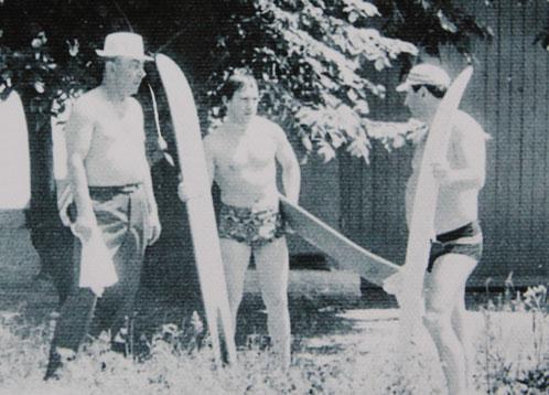 На Дону ард катался на водных лыжах.
