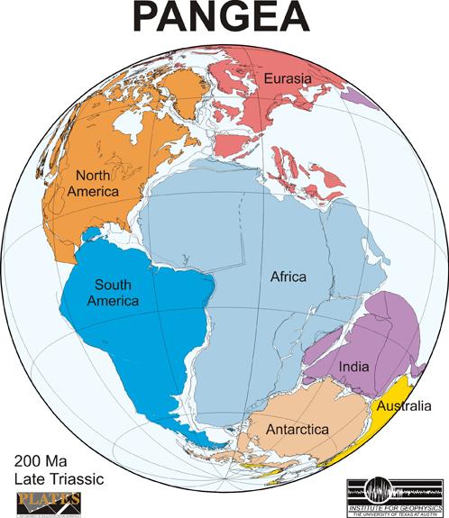 Такой была Пангея - последний суперконтинент