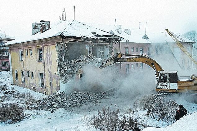 шахтерском поселке сносят